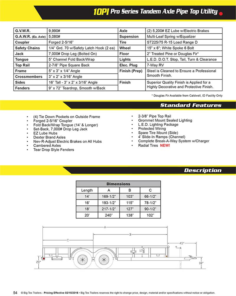 201610PIBIGTEXBrochure big tex 10pi 20xbk4hdir 084973 wiring diagram for big tex trailer at soozxer.org