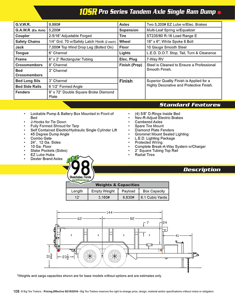2016_10SR_BIG_TEX_Brochure 2017 big tex 10sr 12xlbk7sir 050582 big tex trailer wiring diagram at bayanpartner.co