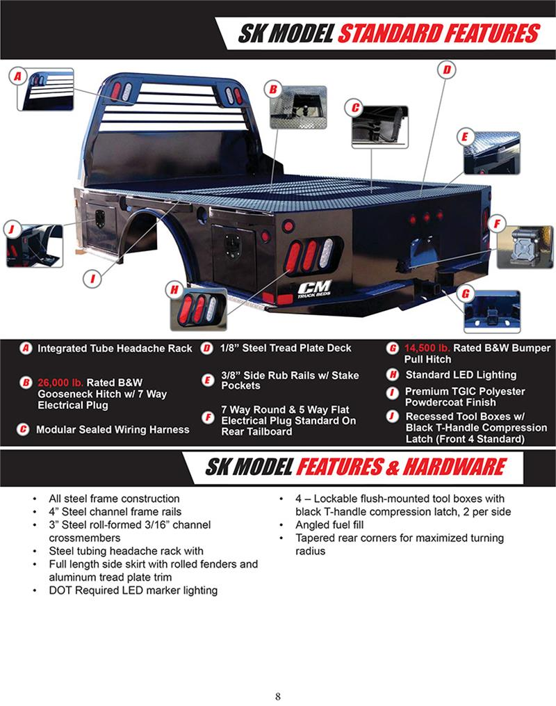 CMTBSK2016 cm truck bed, sk model, dodge ram dually 8'6\