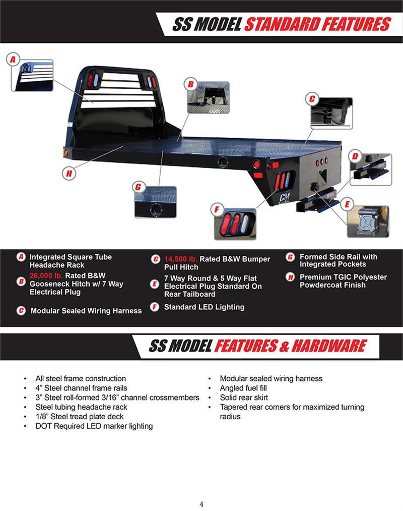 Cm Truck Bed Ss Model Chevroletgmcdodge Ram Sw Lwb 8'6. Ss Model Brochure. Dodge. Dodge Tail Light Harness Flat At Scoala.co