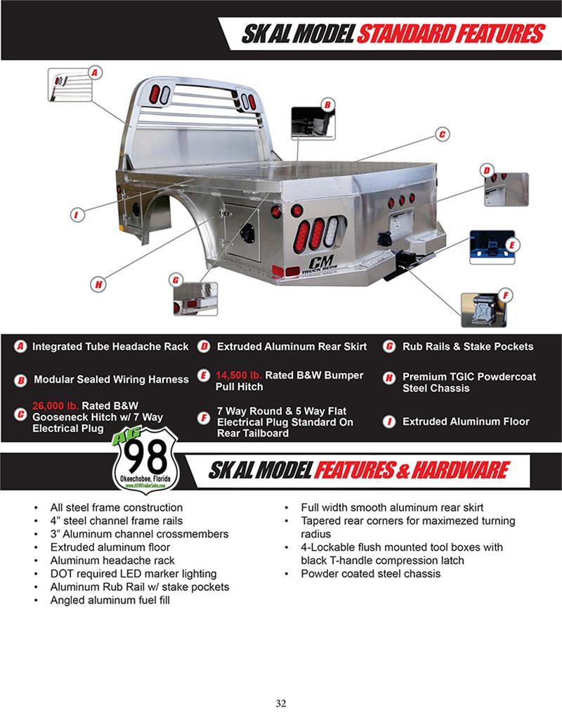 CM Truck Bed, ALSK Model, Aluminum, Dodge Ram Dually 8'6
