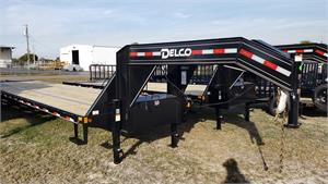 Delco 35' + 5' GN, 2021, 23.9K Gooseneck Flatbed Equipment Trailer #014248